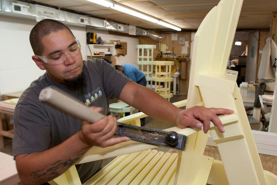 Building furniture at Built to Last in Currituck County North Carolina