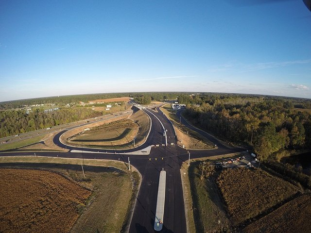 North Carolina: U.S. 70 interchange at U.S. 70 Business. Photo: NCDOT