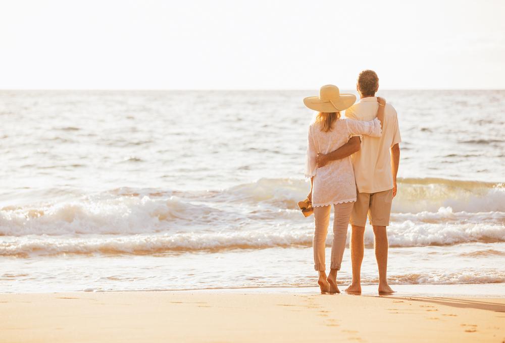 Beach Healthy Couple