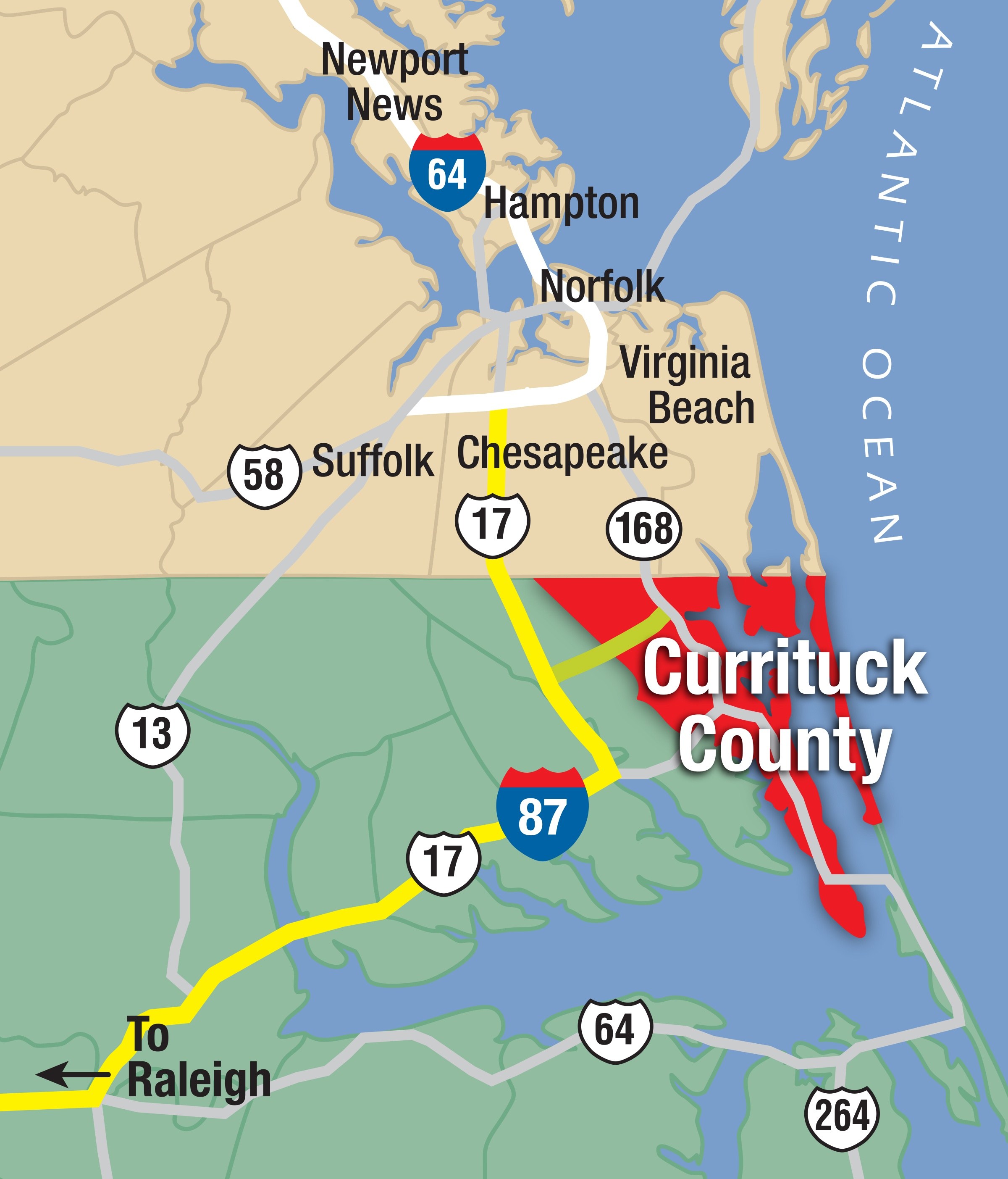 Currituck_HamptonRoads_map_w_I87 R