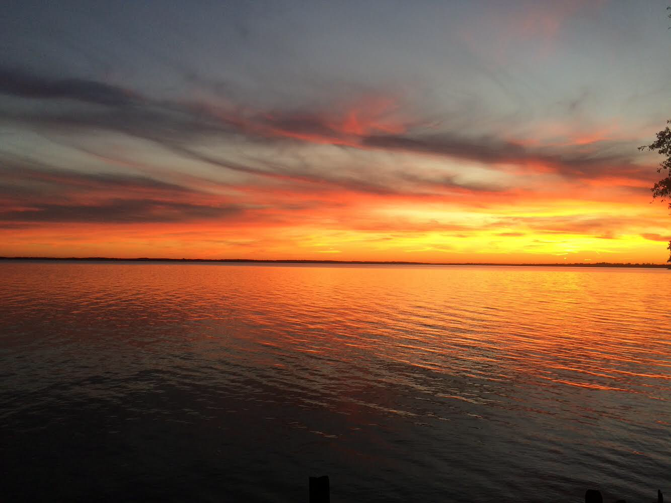 Sunset at The Flyway Lodge in Knotts Island NC