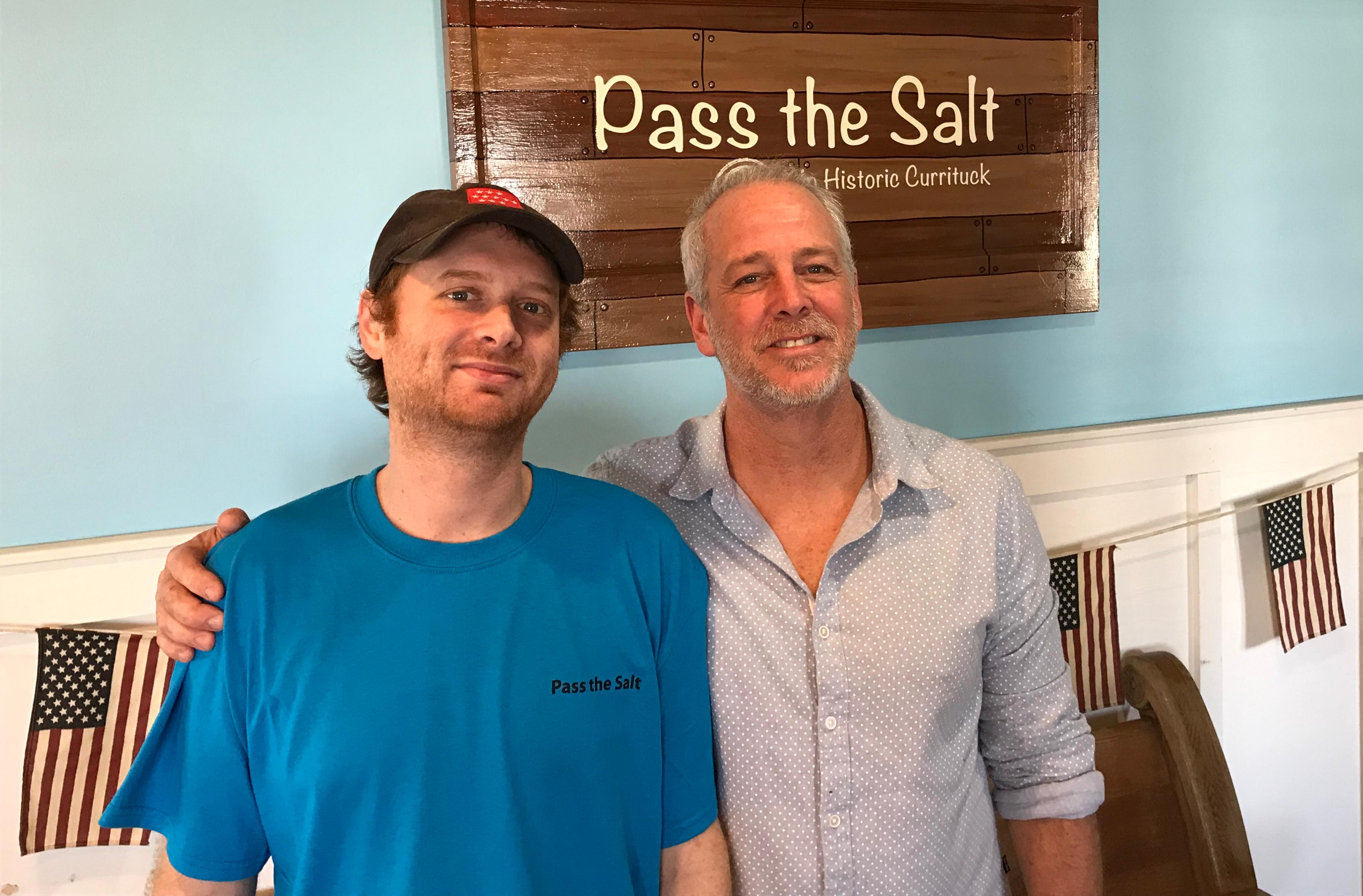 Dan Pennington Chris Frazier Pass the Salt Cafe Currituck County 3