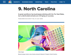 North Carolina ranks as pro-business state