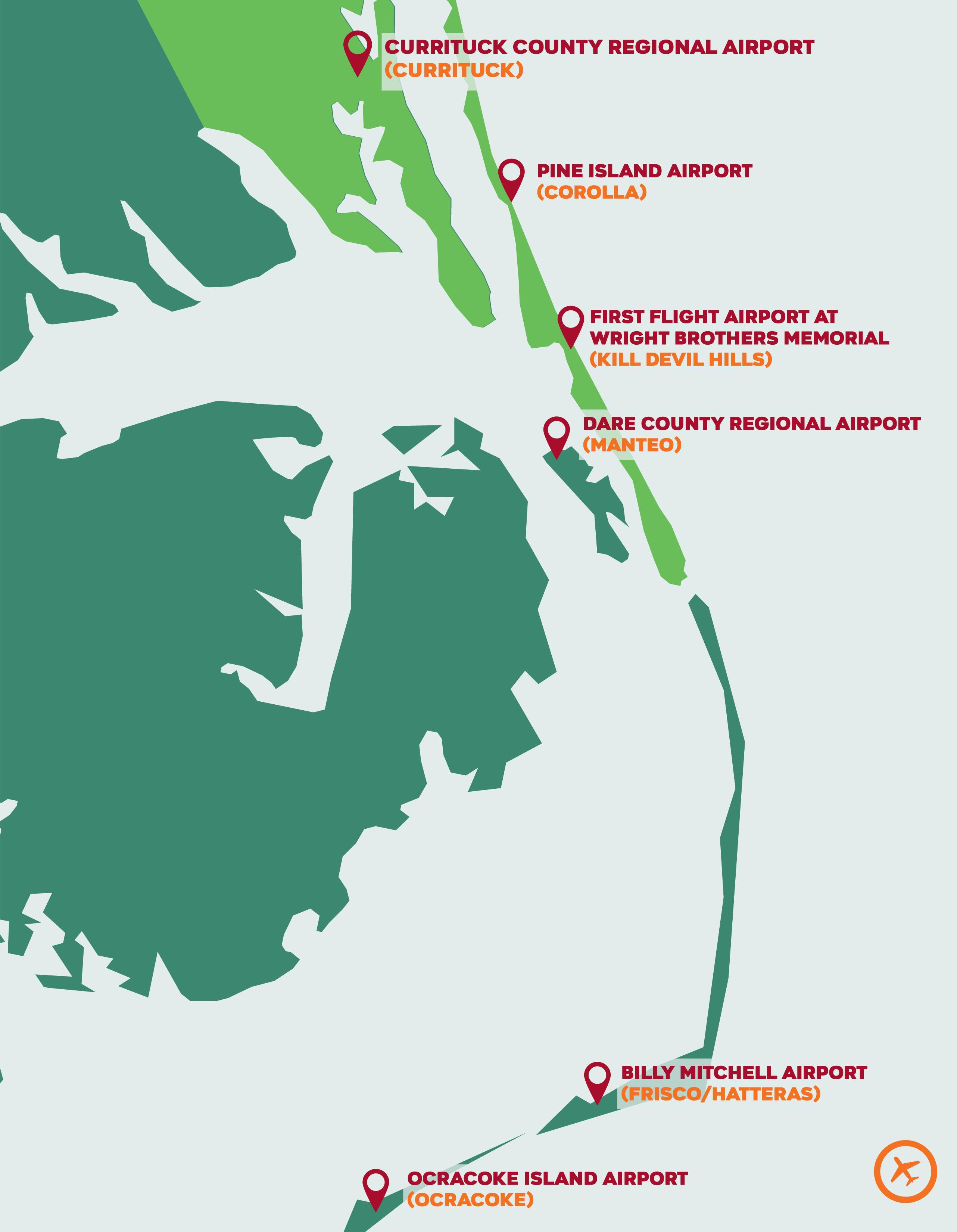 Airports Outer Banks North Carolina