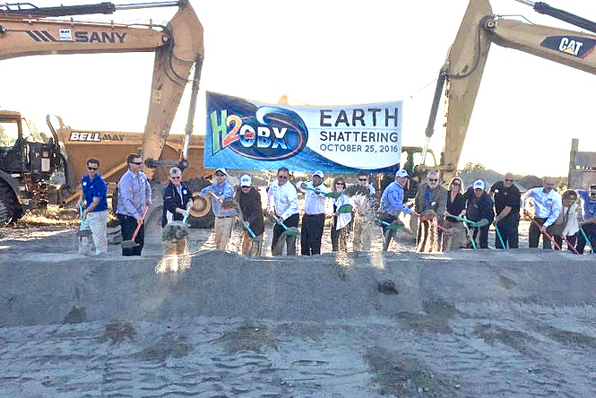 Groundbreaking for H2OBX Waterpark Currituck County North Carolina