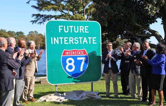 Future interstate 87 in North Carolina