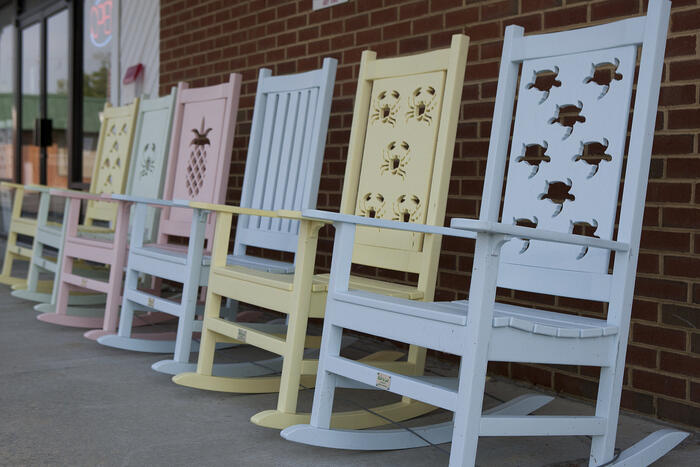 Rocking Chairs From Built To Last In Currituck Are Part Of The Casual Outdoor Furniture Renaissance